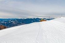 Panorama Dolomitów z trasy biegowej