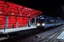Pociąg PKM na stacji Gdańsk Brętowo