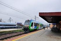 Pociąg Wojak Szwejk na dworcu w Rzeszowie