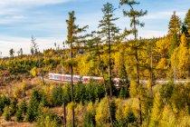 Pociąg z Popradu do Szczyrbskiego Jeziora