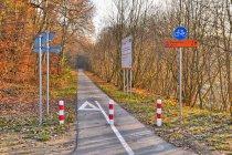 Początek drogi rowerowej Gryfino-Swobnica