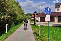 Początek drogi rowerowej Krasno-Nowa Bystrzyca