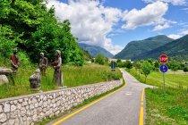 Początek drogi rowerowej w Val Rendena