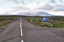 Początek górskiej drogi Kjölur nr F35