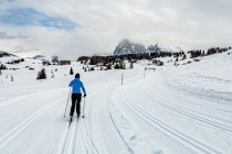 Początek narciarskiej trasy na Alpe di Siusi