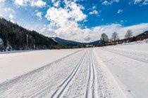 Początek trasy narciarskiej Sonnenloipe