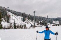 Pod skocznią narciarską w Ramsau