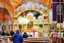 Podczas mszy w cerkwi w Gładyszowie