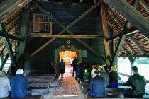 Podczas mszy w kościele w Sękowej