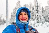 Podczas wędrówki po zimowej Finlandii