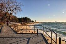 Pomosty na plaży w Helu