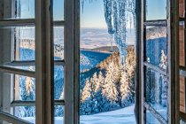 Poranny widok ze schroniska na Śnieżniku