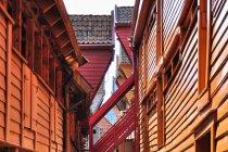 Portowa zabudowa Bryggen