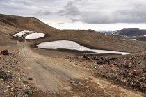 Pozostałości zimy w rezerwacie Fjallabak