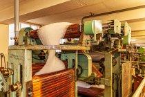 Proces produkcji materiałów wełnianych
