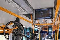 Przedział rowerowy w szynobusie do Helu