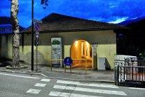 Przejazd nadwodną galerią w Borge Valsugana