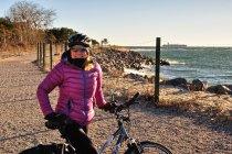 Rowerami po zimowym Helu