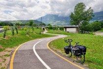 Rowerowa trasa w kierunku Rovereto