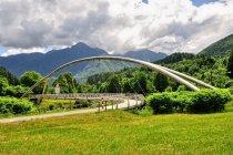 Rowerowy most w dolinie Val Rendena