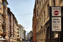 Rowerowy ruch na ulicach Bolzano