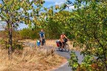 Rowerzyści na Oder-Neisse Radweg