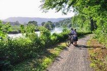 Rowerzyści na Weser-Radweg