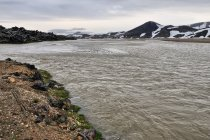 Roztopowa rzeka w Landmannalaugar