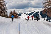 Ruch na biegowych trasach na Alpe di Siusi