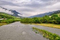 Rzeka Avisio w Val di Fiemme