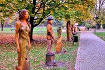 Rzeźby z parku w Wiśle