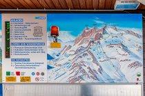 Schemat tras narciarskich na lodowcu Dachstein