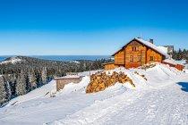 Schronisko na Śnieżniku, widok na Kotliną Kłodzką