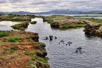 Silfra - miejsce zetknięcia płyt tektonicznych w Parku Narodowym Thingvellir