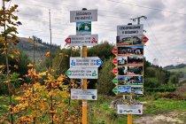 Słowackie rowerowe drogowskazy