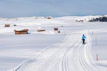 Śnieżny krajobraz Alpe di Siusi