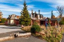 Spalony pensjonat koło Tatrzańskiej Kotliny