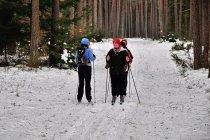 Spotkanie na narciarskim szlaku