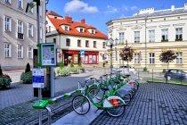 Stacja roweru miejskiego w Bielsku-Białej