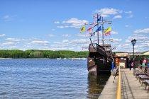 Statek na Jeziorze Charzykowskim