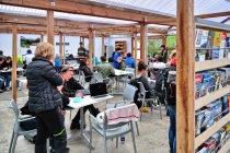 Świetlica i jadalnia na kempingu w Reykjaviku