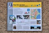 Tablica informacyjna dla kajakarzy w Fürstenbergu