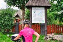 Tablica informacyjna drogi rowerowej