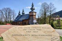 Tablica przed cerkwią w Binczarowej