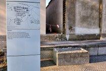 Tablica w miejscu kaźni w Ravensbrück
