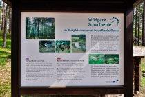 Tablice informacyjne w języku polskim w Wildpark Schorfheide