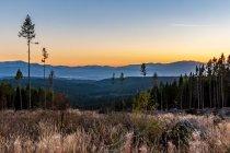 Tatry Niżne o zachodzie Słońca