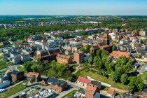 Tczew - centrum miasta z lotu ptaka