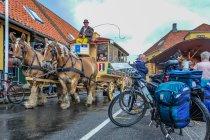 Tramwaj konny w Svaneke. I sakwy Alpinus Biko