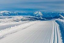 Trasa na narty biegowe na lodowcu